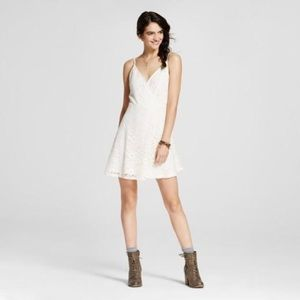 Off white LACE Fit & Flare Skater style Sun DRESS